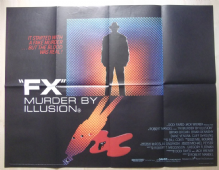 FX Murder by Illusion, Original UK Quad Poster, Bryan Brown, Brian Dennehy, '86